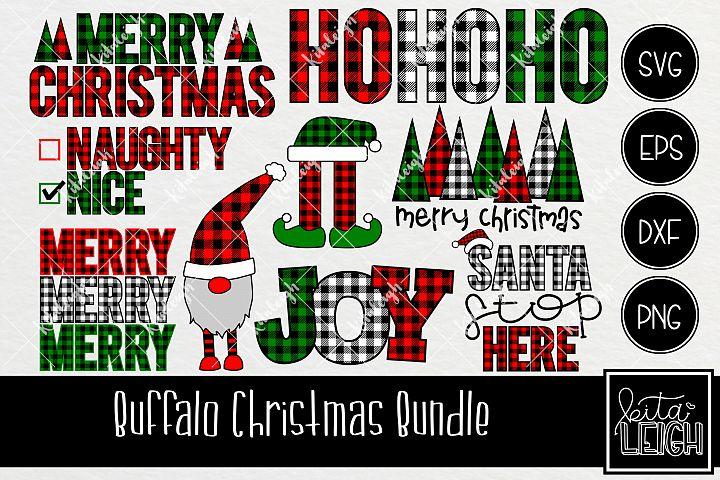 Buffalo Plaid Christmas Bundle SVG