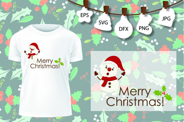 Snowman SVG , Christmas Shirt SVG , Winter Wonderland Svg