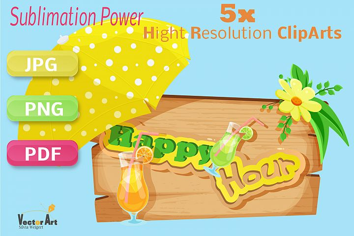 Happy Hour - Craft Bundle for Sublimation and Scrapbooking