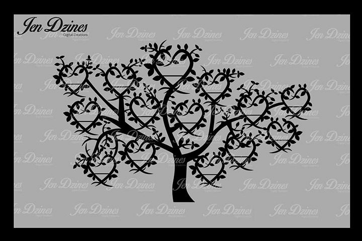 Family Tree 14 Names Svg Dxf Eps Png 3133 Svgs Design Bundles