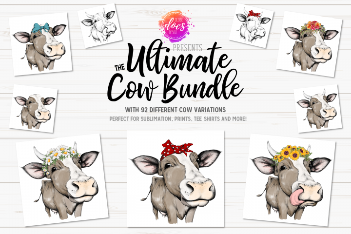 The Ultimate Hand Drawn Cow Bundle