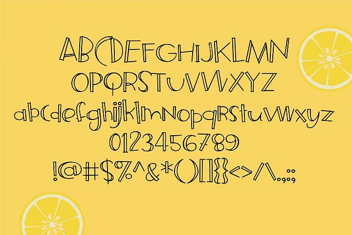 ZP Frozen Lemonade - Free Font of The Week Design0