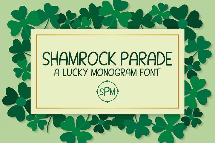 Shamrock Parade - A Lucky Monogram Font