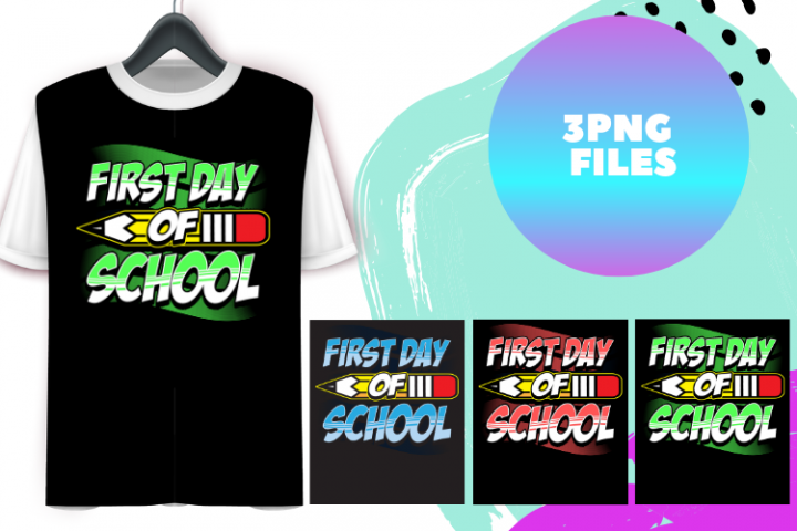 First day of school, Back to school clipart
