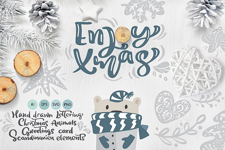 Enjoy Xmas - Scandinavian Christmas Design