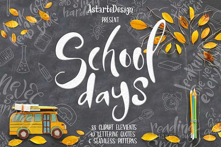 School days-clipartlettering