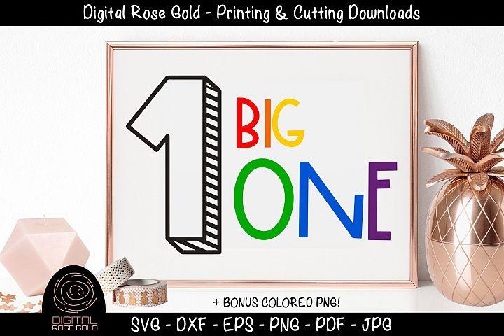 Big One - First Birthday SVG, Baby 1st Birthday Party Decor