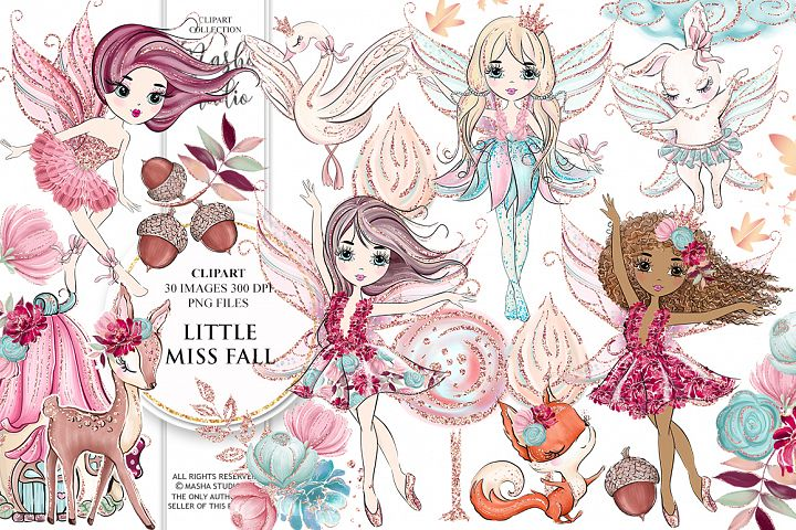 LITTLE MISS FALL Clipart