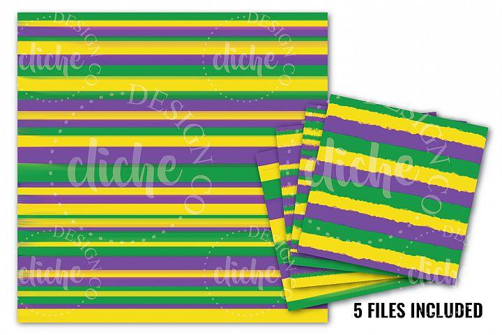 Mardi Gras Digital Paper Bundle
