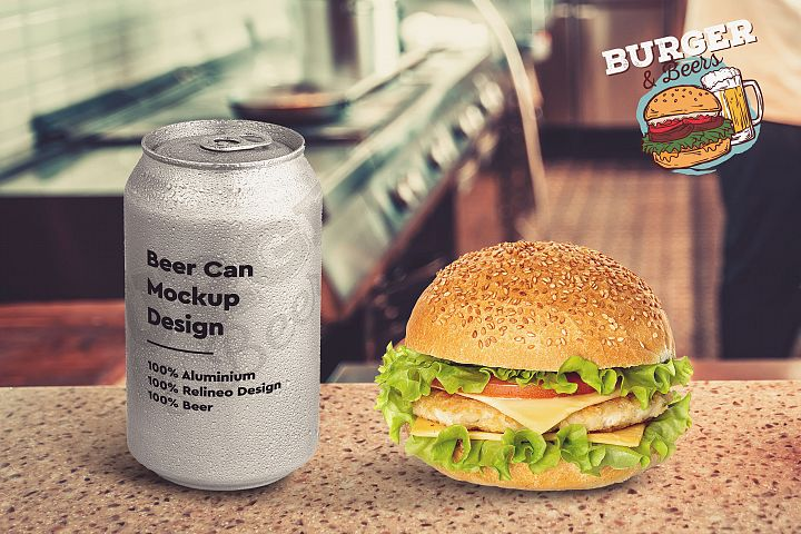 Burger and Beer Mock-up #8