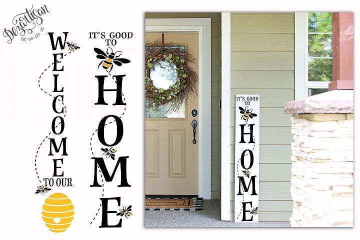 Its Good to Bee Home Welcome Hive SVG | DXF