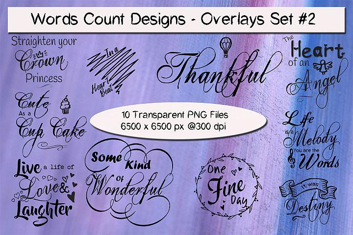 Words Count Designs - Overlays Set #2