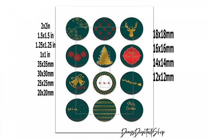 Jingle Bells,Digital Collage Sheet,Pocket Mirror Images example image 2