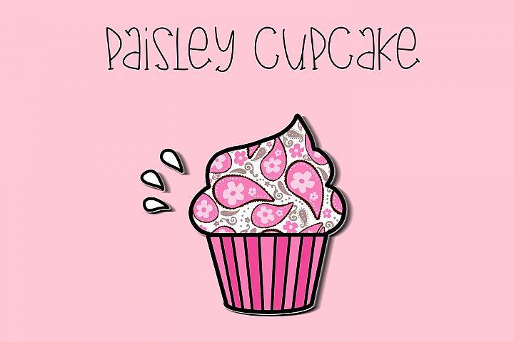 Paisley Cupcake