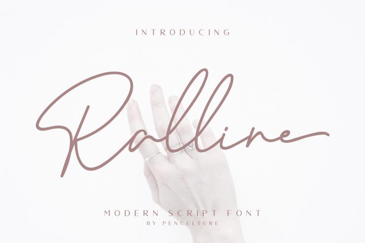 Ralline - Modern Script Font