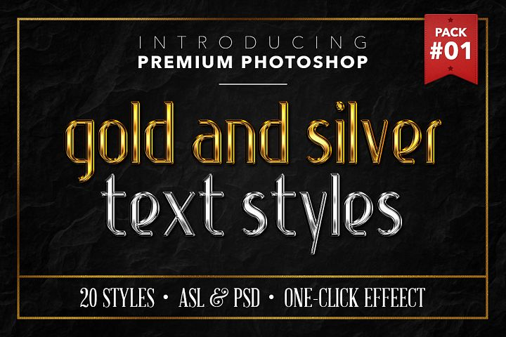 Gold & Silver #1 - 20 Text Styles