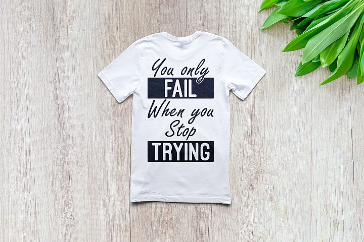 Never stop trying | Motivational | SVG Cut files |