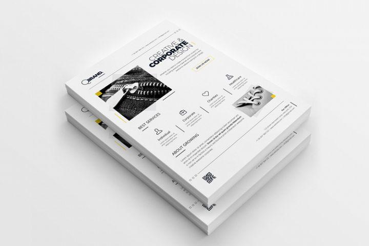 Clean Minimal Corporate Creative Flyer Template