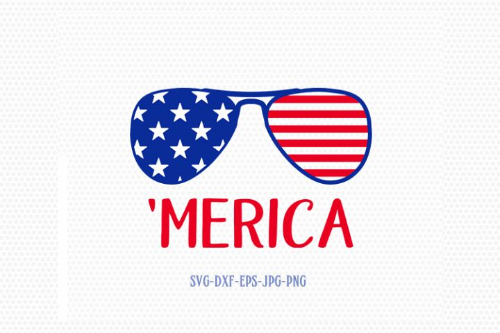 Merica sunglasses SVG, Fourth of July SVG, 4th of July sunglasses Svg, Patriotic SVG, America Svg, Cricut, Silhouette Cut File, svg dxf eps