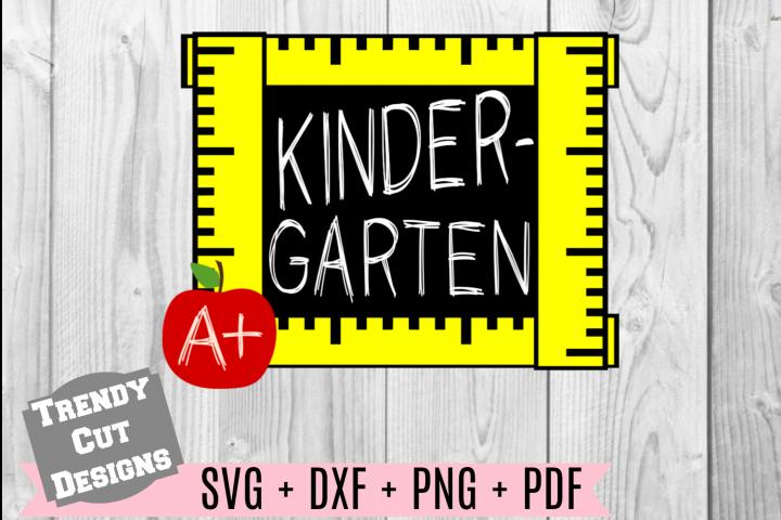 Kindergarten Grade Ruler Frame, Back to School