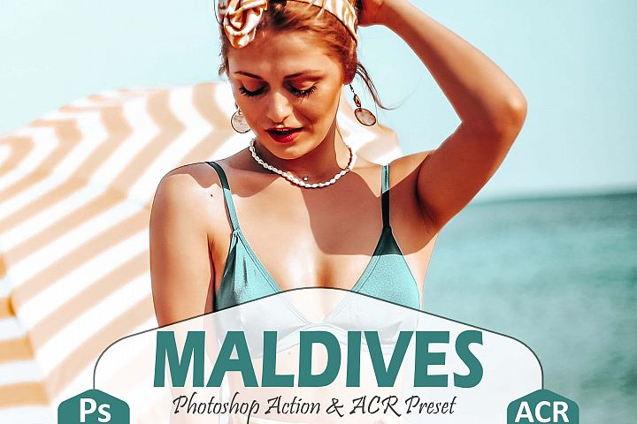 10 Maldives Photoshop Actions And ACR Presets, ocean filter