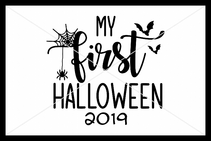 My First Halloween, SVG, Silhouette Cameo, Cricut, Cut File