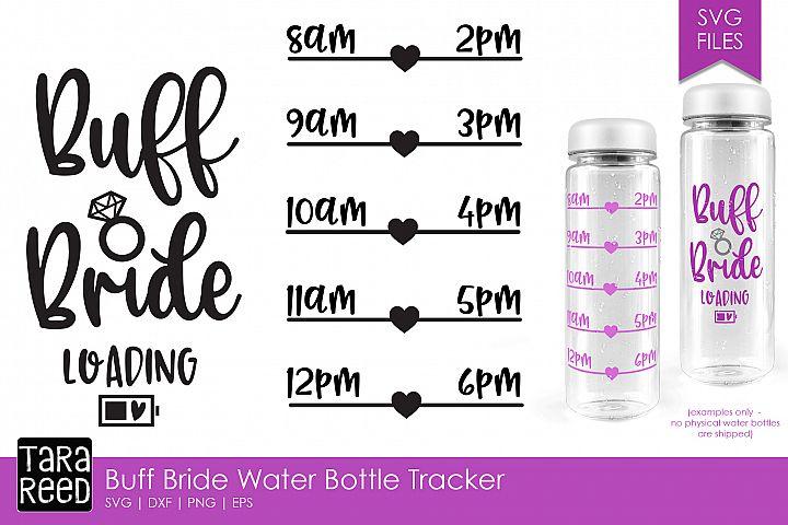 Buff Bride Water Intake Bottle Tracker - Bridal SVG files