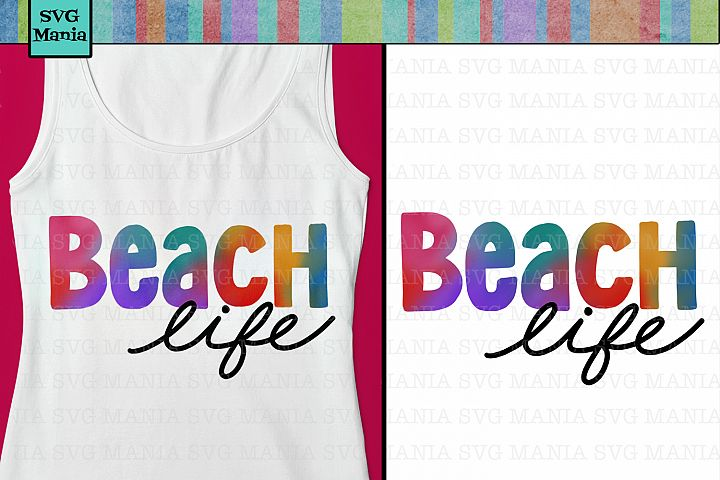 Sublimation Design File, Beach Life, Beach Shirt PNG File