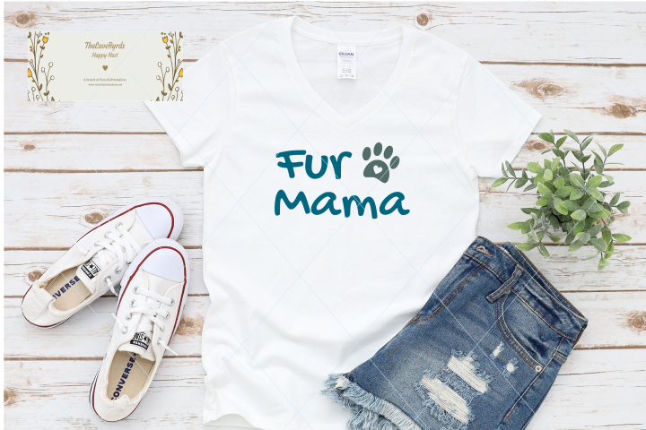 Fur mama svg, dog mom svg, love paw cut file, mom life, pet