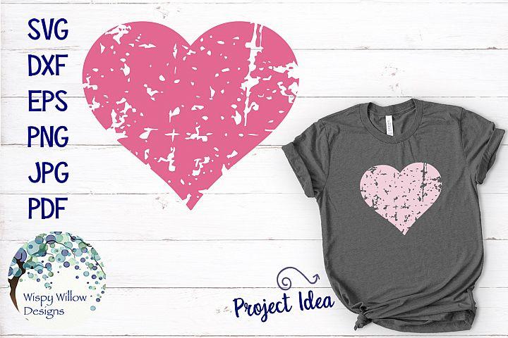 Distressed Grunge Heart | Valentine SVG