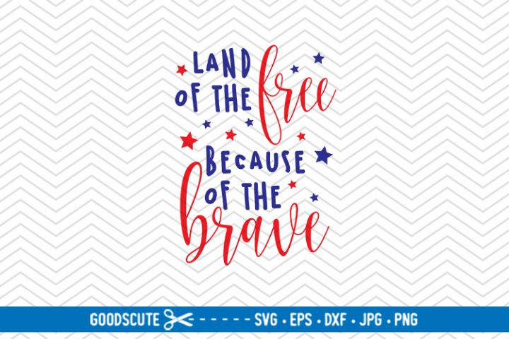 Land Of The Free Because Of The Brave | 4th of July - SVG