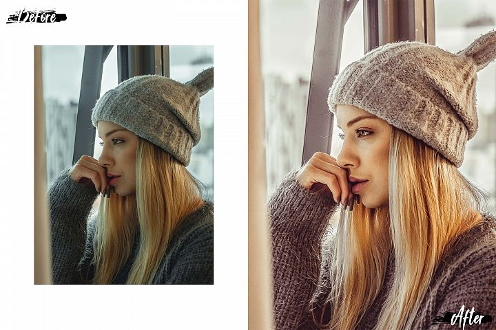05 Nude Photoshop Actions, ACR and LUT presets, beige photo example image 8