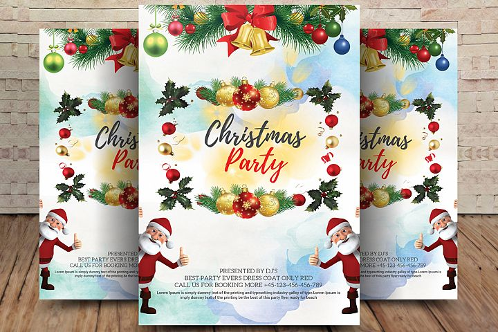 This Christmas Party Flyer Template