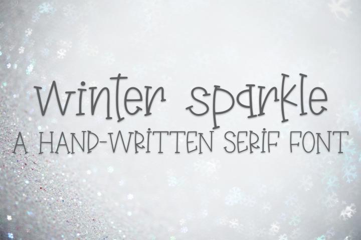 Winter Sparkle - A Hand-Written Serif Font