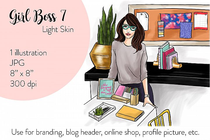Fashion illustration - Girl boss 7 - Light Skin