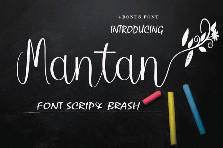 Mantan Font Brush