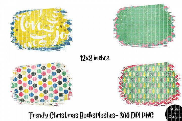 Trendy Christmas Design Background