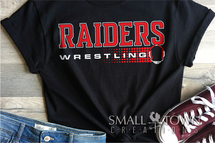 Raider, Wrestling, Sports, Team, Design, PRINT, CUT, DESIGN