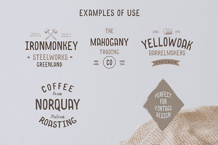 Norquay - Hand Drawn Font example 1