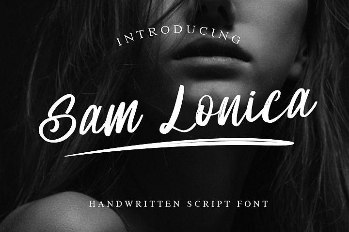 Sam Lonica Handwritten Script Font