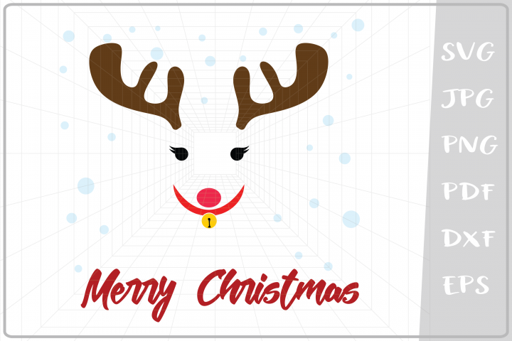 Girl Raindeer svg, Merry Christmas svg, Christmas svg