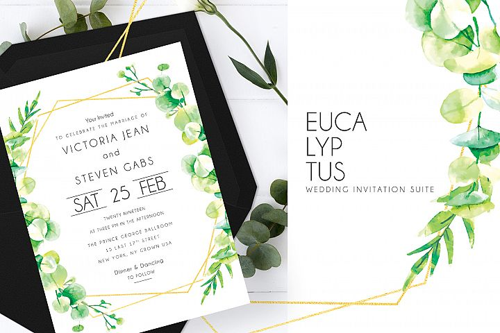 Eucalyptus Wedding Invitation Suite