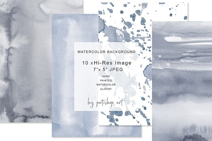 Hand Painted Watercolor Background 7x 5 JPEG Tiles