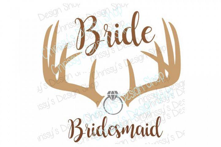 Outdoor Bride and Bridesmaid SVG, DXF, EPS