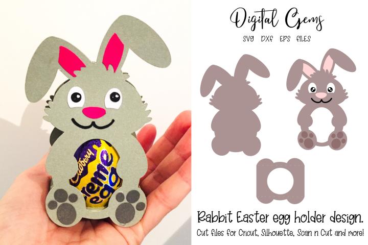 Rabbit Easter egg holder design SVG / DXF / EPS files