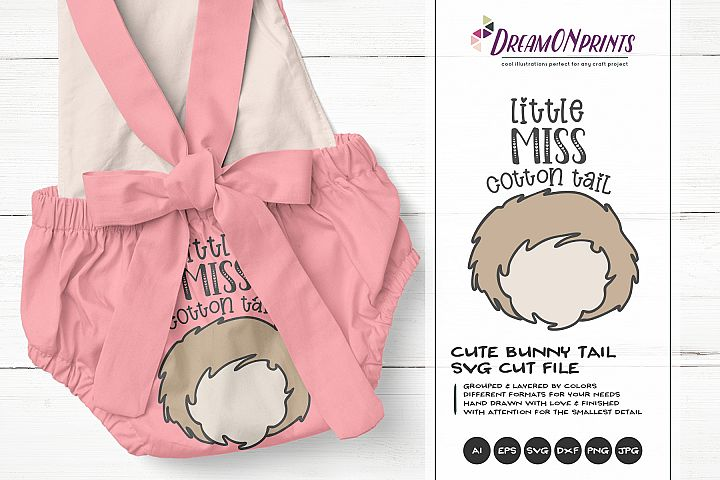 Little Miss Cotton Tail SVG Bunny Butt SVG - Easter SVG