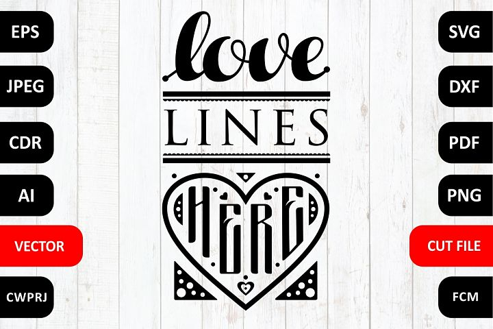 Love Family SVG Quote cut file. Love lines here