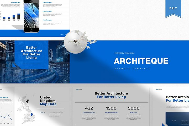 Architeque | Powerpoint, Keynote, GoogleSlides Template