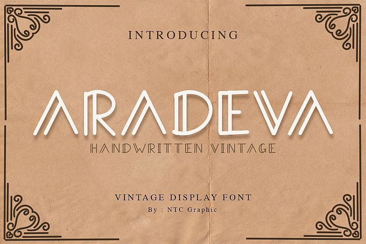 Aradeva Vintage Display Font