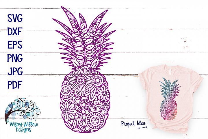Pineapple Zentangle SVG | Summer Cut File